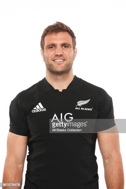 Luke Whitelock poses during a New Zealand All Blacks headshots session on May 21 2018 in Auckland New Zealand