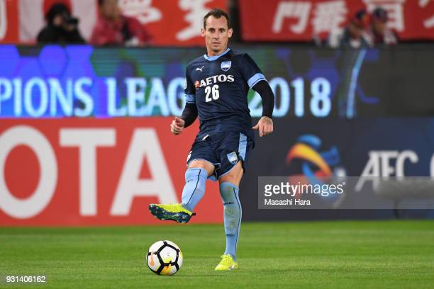 Luke Wilkshire of Sydney FC in action during the AFC Champions League Group H match between Kashima Antlers and Sydney FC at Kashima Soccer Stadium...