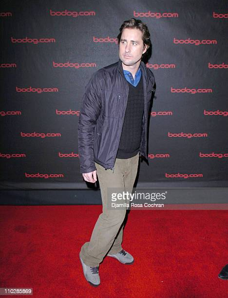 Luke Wilson and Jason Binn during Bodog Poker Interface Launch Party and Poker Night at The Rainbow Room in New York City New York United States