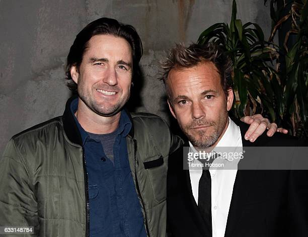 Luke Wilson and Stephen Dorff attend the premiere and record release party for ''Wheeler' at Tenants of the Trees on January 30 2017 in Los Angeles...