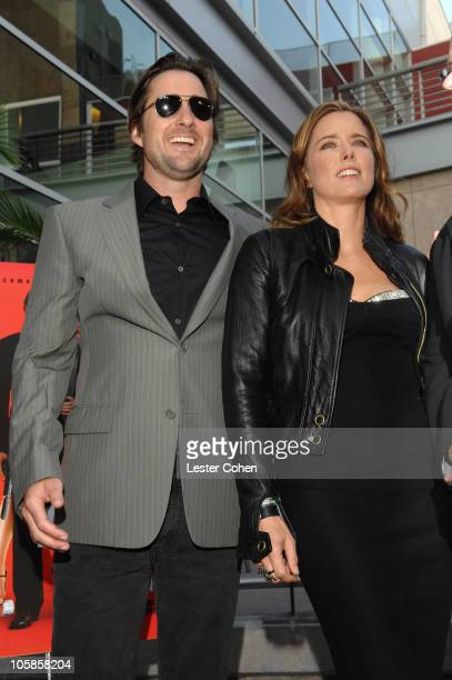 Luke Wilson and Tea Leoni during 'You Kill Me' Los Angeles Premiere Red Carpet at ArcLight Hollywood in Hollywood California United States