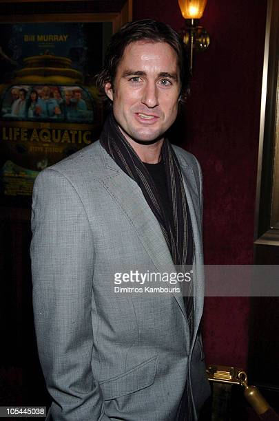 "Luke Wilson during ""The Life Aquatic with Steve Zissou"" New York Premiere - Inside Arrivals at Ziegfeld Theater in New York City, New York, United..."