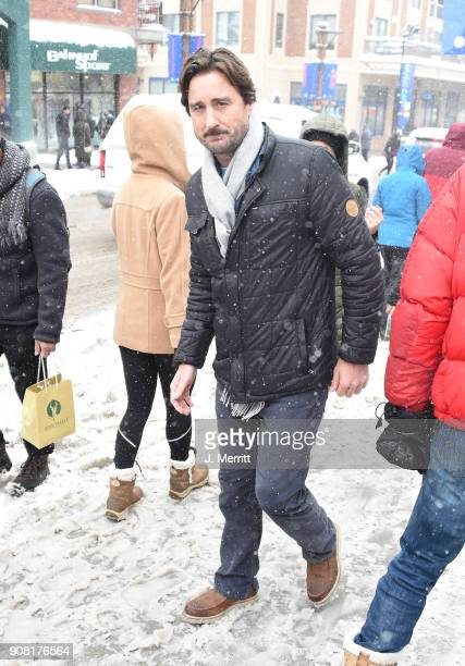 Luke Wilson is seen walking around Park City Day 2 on January 20 2018 in Park City Utah