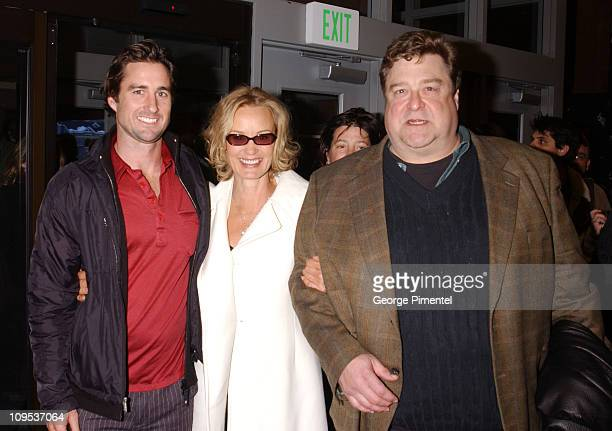 Luke Wilson Jessica Lange And John Goodman during 2003 Sundance Film Festival 'Masked and Anonymous' Premiere at Eccles in Park City Utah United...