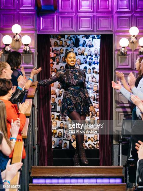 Luke Wilson Laverne Cox and Trevor Noah chat with James Corden during The Late Late Show with James Corden Tuesday February 21 2017 On The CBS...