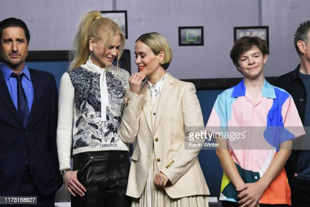 Luke Wilson Nicole Kidman Sarah Paulson and Oakes Fegley attend The Goldfinch press conference during the 2019 Toronto International Film Festival at...