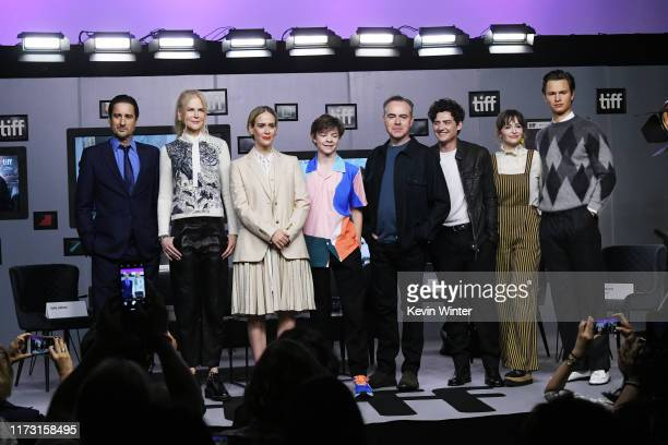 Luke Wilson Nicole Kidman Sarah Paulson Oakes Fegley John Crowley Aneurin Barnard Ashleigh Cummings and Ansel Elgort attend The Goldfinch press...