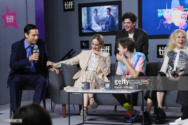 Luke Wilson Sarah Paulson Oakes Fegley Aneurin Barnard and Nicole Kidman attend The Goldfinch press conference during the 2019 Toronto International...