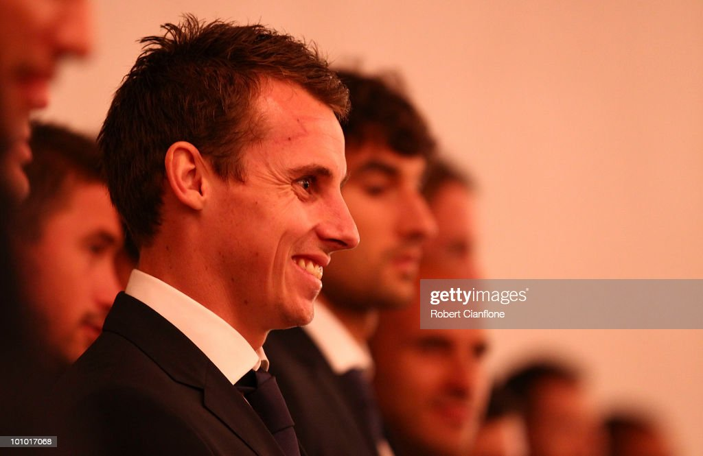 Luke Wiltshire of Australia is seen during an Australian Socceroos welcome function at the Sandton Sun Hotel on May 27, 2010 in Sandton, South Africa.