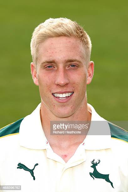 Luke Wood during the Nottinghamshire County Cricket Photocall at Trent Bridge on April 2 2015 in Nottingham England