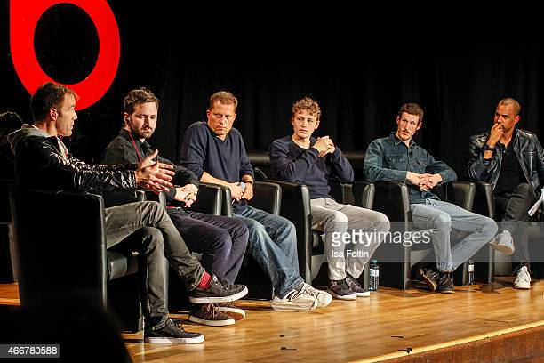 Luke Wood Tom Rosenthal Til Schweiger Tim Bendzko Michael Vajna and Patrice Bouedibela attend the Beats by Dr Dre Sound Symposium on March 18 2015 in...