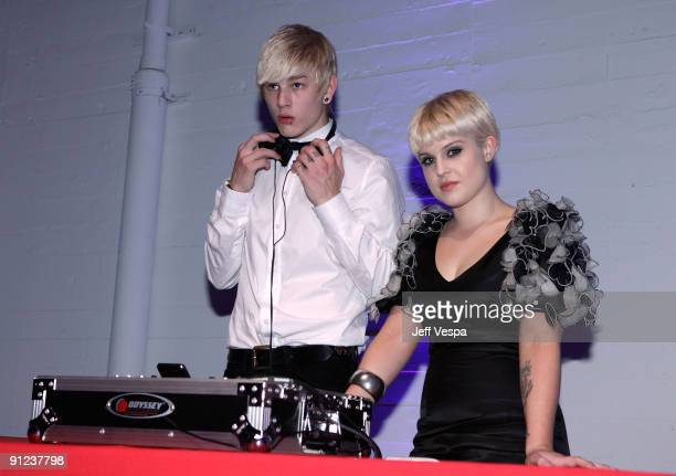 HOLLYWOOD SEPTEMBER 25 DJ Luke Worrall and Kelly Osbourne during the 7th Annual Teen Vogue Young Hollywood Party held at Milk Studios on September 25...