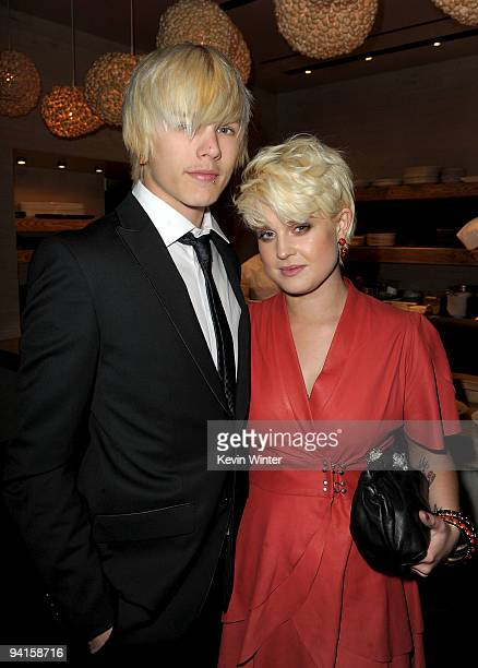 Luke Worrall and singer Kelly Osbourne attend the 2nd annual Golden Globes party saluting young Hollywood held at Nobu Los Angeles on December 8 2009...