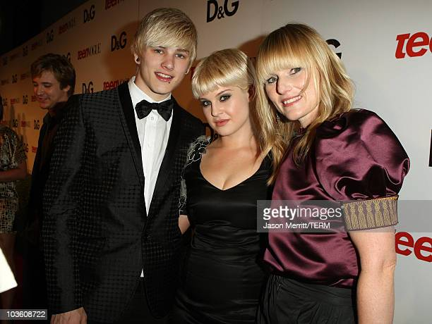 DJ Luke Worrall Kelly Osbourne and Editorinchief Teen Vogue Amy Astley arrive at the 7th Annual Teen Vogue Young Hollywood Party held at Milk Studios...