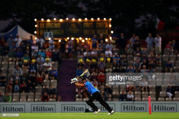 Luke Wright of Sussex bats during the Vitality Blast match between Hampshire and Sussex Sharks at The Ageas Bowl on July 12 2018 in Southampton...