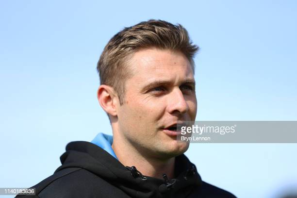 Luke Wright of Sussex CCC is interviewed during a press day at the County Ground on April 03 2019 in Hove England
