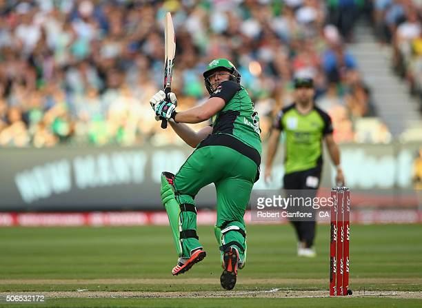 Luke Wright of the Stars bats during the Big Bash League final match between Melbourne Stars and the Sydney Thunder at Melbourne Cricket Ground on...