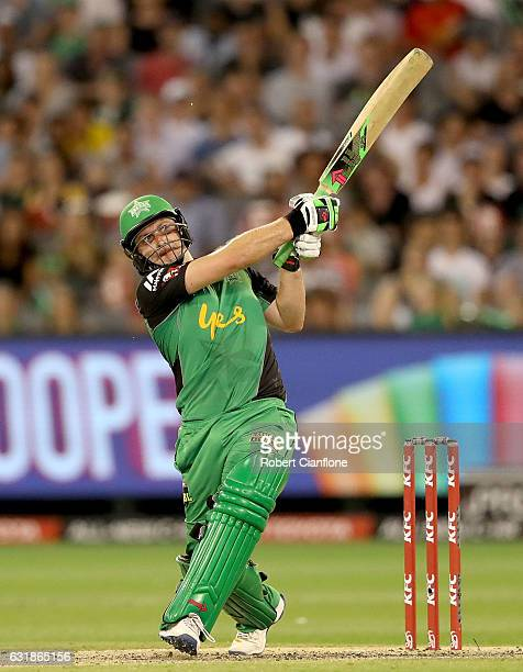 Luke Wright of the Stars bats during the Big Bash League match between the Melbourne Stars and the Brisbane Heat at Melbourne Cricket Ground on...