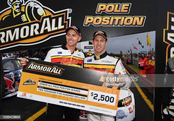 Luke Youlden driver of the Erebus Penrite Racing Holden Commodore ZB and David Reynolds driver of the Erebus Penrite Racing Holden Commodore ZB...