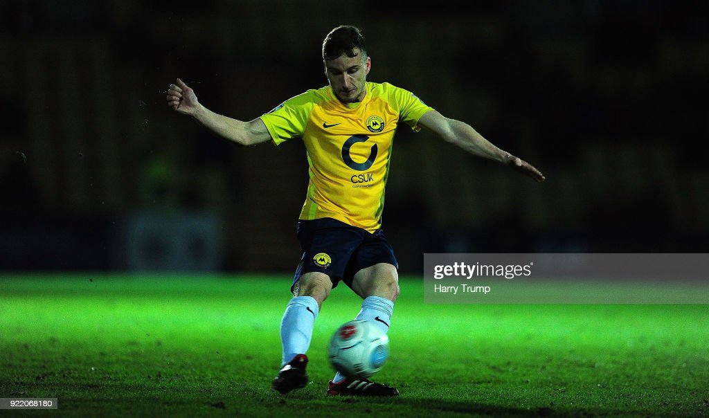 Luke Young of Torquay United during the Vanarama National League match between Torquay United and Sutton United at Plainmoor on February 20, 2018 in Torquay, England.