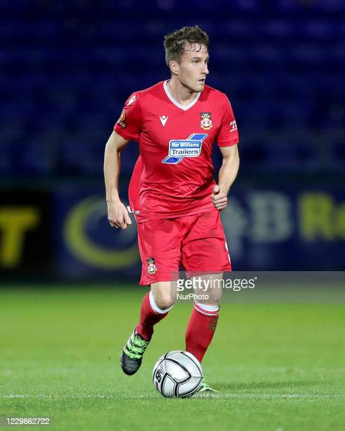 Luke Young of Wrexham during the Vanarama National League match between Hartlepool United and Wrexham at Victoria Park, Hartlepool on Tuesday 17th...