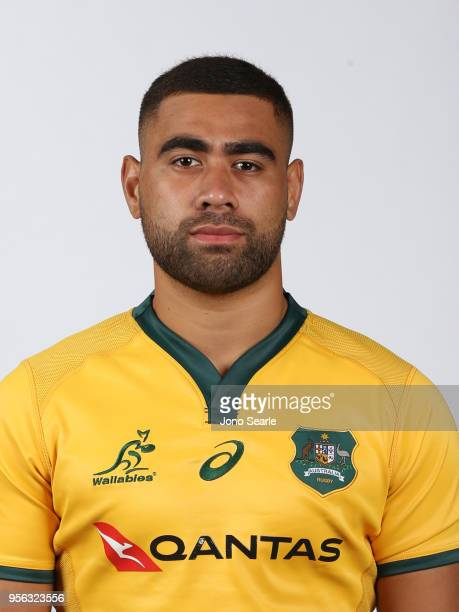 Lukhan Tui poses during the Australian Wallabies headshot session on May 7 2018 in Gold Coast Australia