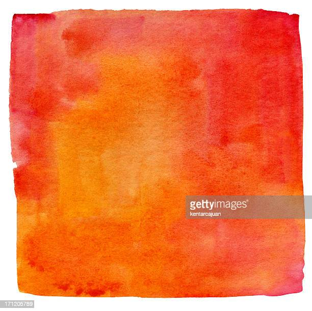 lukianchik peach watercolour square - watercolor background stock pictures, royalty-free photos & images
