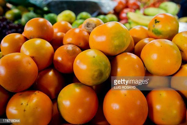 """Lulos are seen at """"La Alameda"""" market in Cali, department of Valle del Cauca, Colombia, on August 27 during the farmers strike. Since the protests..."""