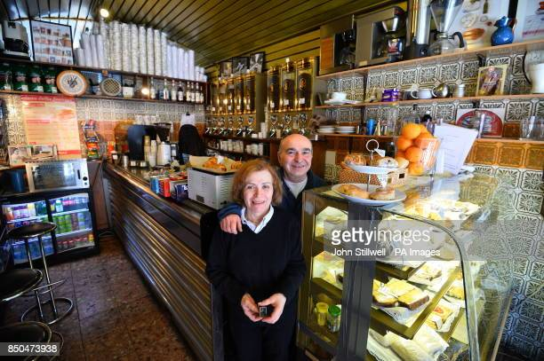 Lulu and Henry the current owners of the original Costa Coffee shop first opened in 1978 by brothers Sergio and Bruno Costa but now in private hands...