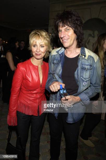 Lulu and Jeff Beck during The 12th Annual Rainforest Foundation Concert After Party at Pierre Hotel in New York City New York United States