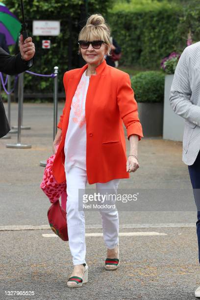 Lulu attends Wimbledon Championships Tennis Tournament Ladies Final Day at All England Lawn Tennis and Croquet Club on July 10, 2021 in London,...