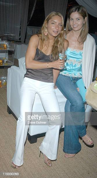Lulu de Kwiatkowski and Abigail Klein during Theory Hosts the 'Riding Giants' Premiere After Party at Andrew Rosen's House in Southampton New York...