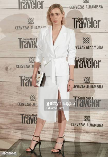 Lulu Figueroa attends the 'Conde Nast Traveler Gastronomic and Wine Guide' photocall at Florida Retiro on December 11 2017 in Madrid Spain