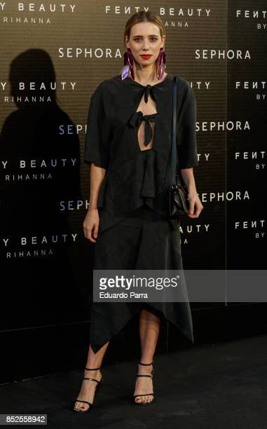 Lulu Figueroa attends the Fenty Beauty photocall at Callao cinema on September 23 2017 in Madrid Spain
