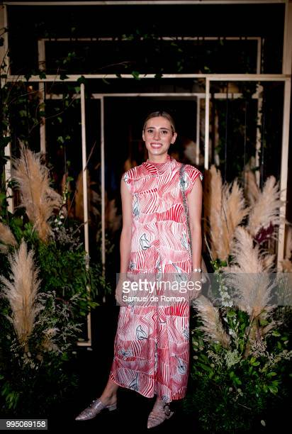 Lulu Figueroa attends the front row of Inunez show during Mercedes Benz Fashion Week Madrid Spring/Summer 2019 on July 10 2018 in Madrid Spain