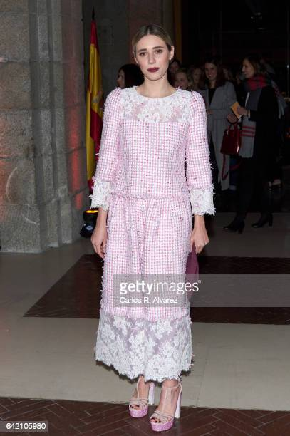 Lulu Figueroa attends the Roberto Verino show during the MercedesBenz Madrid Fashion Week Autumn/Winter 2017/2018 at Correos Palace on February 16...