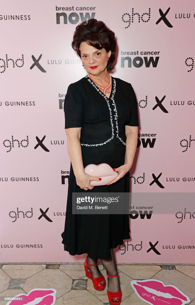 Lulu Guinness attends the launch of the new ghd x Lulu Guinness collection, which raises money for Breast Cancer Now, at One Belgravia on July 11, 2018 in London, England.