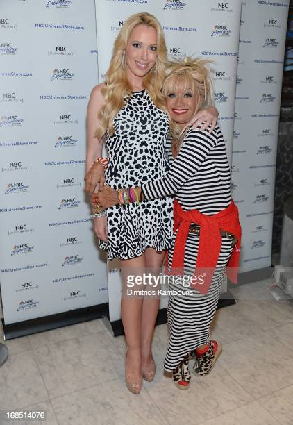 Lulu Johnson and Betsey Johnson attend a meet greet at the NBC Experience Store on May 10 2013 in New York City