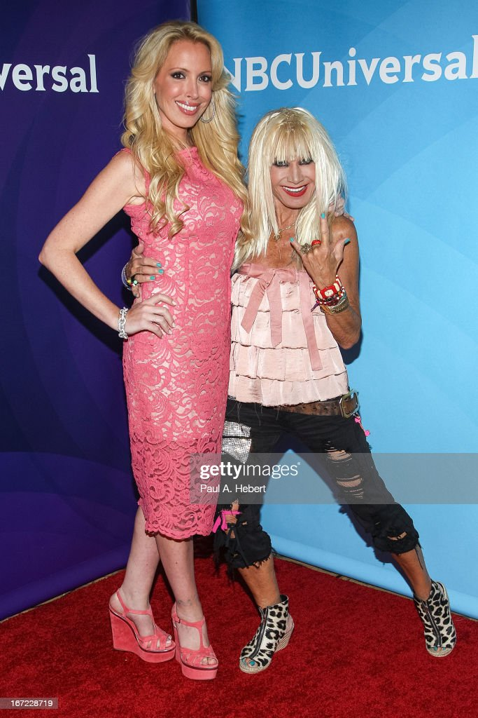 Lulu Johnson and Betsey Johnson attend the 2013 NBCUniversal Summer Press Day held at The Langham Huntington Hotel and Spa on April 22, 2013 in Pasadena, California.