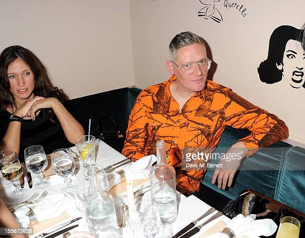 Lulu Kennedy and Giles Deacon attend the Stylecom dinner celebrating London fashion hosted by editorinchief Dirk Standen at Shrimpy's in The Kings...