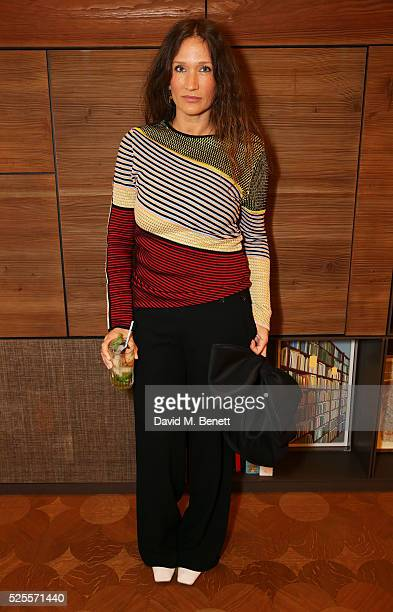 Lulu Kennedy attends the BFC Fashion Trust x Farfetch cocktail reception on April 28, 2016 in London, England.