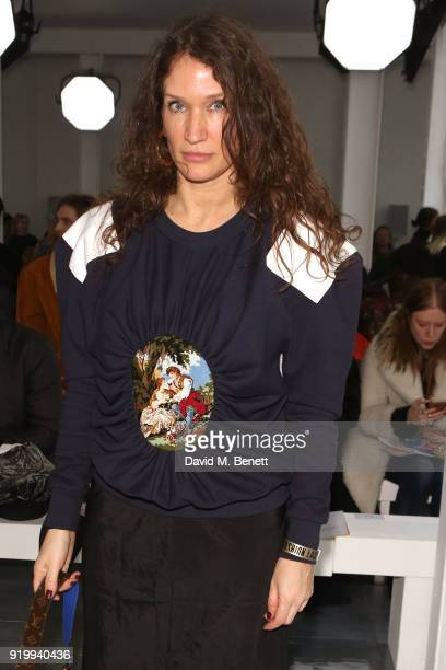 Lulu Kennedy attends the Fashion East show during London Fashion Week February 2018 at TopShop Show Space on February 18 2018 in London England