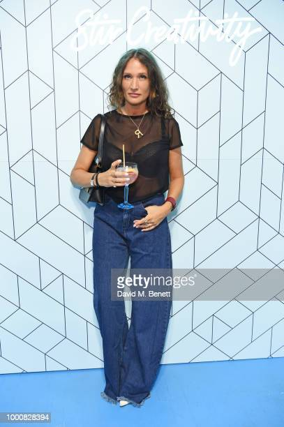 Lulu Kennedy attends the launch of Bombay Sapphire's 'Canvas' a destination designed to stir creativity and inspire creative selfexpression in...
