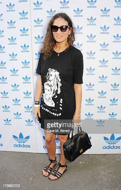 Lulu Kennedy attends the launch of the adidas #Spezial exhibtion showcasing 600 pairs of adidas trainers at Hoxton Gallery on July 18 2013 in London...
