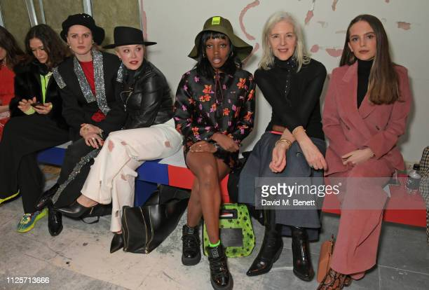 Lulu Kennedy Christabel Macgreevy Daisy Lewis Zaina Miuccia Ruth Chapman and Esme Rose Chapman attend the Christopher Kane show during London Fashion...