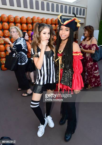 Lulu Lambros and Asia Monet Ray at the Dream Halloween 2017 Costume Party Benefitting Starlight Children's Foundation presented by Michaels and Aaron...