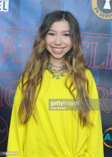 Lulu Lambros attends Tarik Ellinger's 16th Birthday Party In The Upside Down at Starwest Studios on December 13 2019 in Burbank California