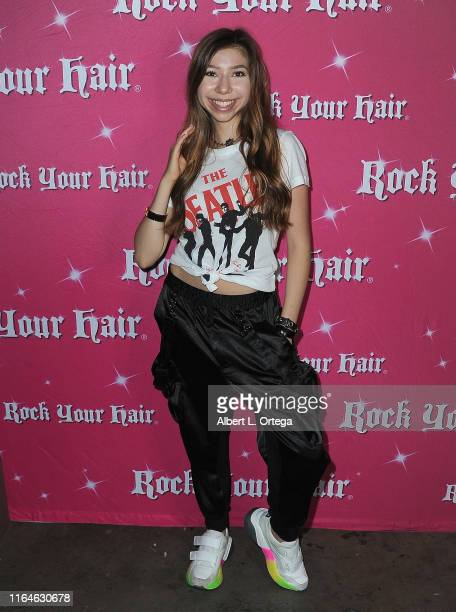 Lulu Lambros attends the Rock Your Hair Presents Movie Night Screening Of Grease held at Rock Your Hair Studio on August 28 2019 in Burbank California