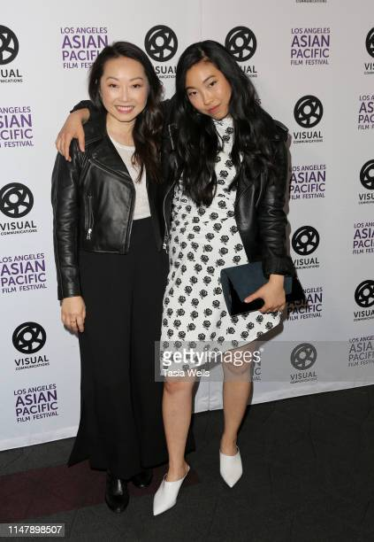 Lulu Wang and Awkwafina attends the 35th LA Asian Pacific Film Festival The Farewell Photo Call at Regal Cinemas LA Live on May 08 2019 in Los...