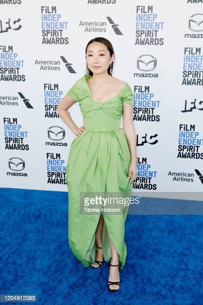 Lulu Wang attends The 2020 Film Independent Spirit Awards with American Airlines at The 2020 Film Independent Spirit Awards on February 08 2020 in...